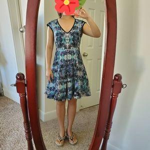 GUC Nanette Lepore floral print fit & flare dress